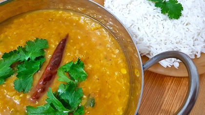 Super Easy Vegetarian Red Lentil Dhal Curry Recipe