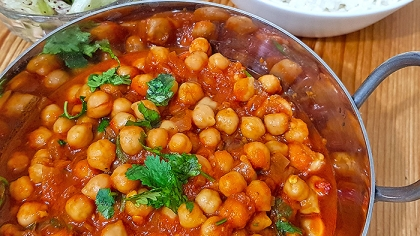 North Indian Cuisine: Vegan Chickpea Curry Recipe